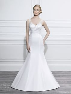 Moonlight Tango Fall 2014 #bridal collection: sleeveless #wedding dress style T653  #weddinggown #weddingdress
