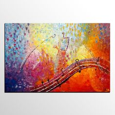 Abstract Art, Canvas Painting, Modern Painting, Saxphone Player, Original Painting, Abstract Painting, Canvas Art, Wall Art, Heavy Texture Art