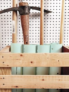 PVC Pipe used for Storage in Garage