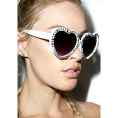 Gasoline Glamour Crystal Lolita Sunglasses (£44) ❤ liked on Polyvore featuring accessories, eyewear, sunglasses, embellished sunglasses, heart shaped sunglasses, gasoline glamour sunglasses, black gradient sunglasses and crystal glasses