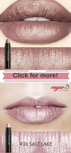 The Metallic Ones-Focallure Mattix Waterproof Lipstick - Beauty - Make Up Beauty Make-up, Beauty Secrets, Beauty Hacks, Hair Beauty, Beauty Tips, Lipstick Colors, Lip Colors, Metallic Matte Lipstick, Waterproof Lipstick