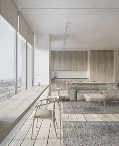 Bright and spacious kitchen and living    dmitryman.com      dmitrymandesign@gmail.com #interiordesign #concept #minimalism #visualization #CG_graphic #ukraine #dnepr #wood #parquet #stone #plaster #stucco #minimalistic #style #rustic #ideas #inspiration #natural #simple #furniture #moodboard #concrete #minimal #calm #monochrome #grey #cozy #warm #art #lifestyle #livingroom #livingroomdesign #kitchen #kitchendesign