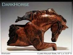 Horse Carvings from Exotic and Domestic Burl Wood by David T. Ramsey