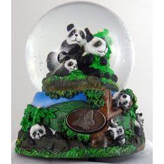 Momma Panda with Baby Panda Family Snow globe...  so cute!