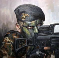"""Soldado BRIPAC, Brigada Paracaidista """"Almogávares"""" VI, Ejército Español."""