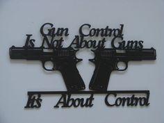 Gun Control 16 Gauge Metal 2nd Amendment by Metalheadartdesign, $39.99