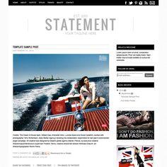 Premade Blogger Template - Fashion Blog Template