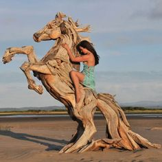 Sea Horse made from discarded wood by @jeffro_art www.UpFade.com