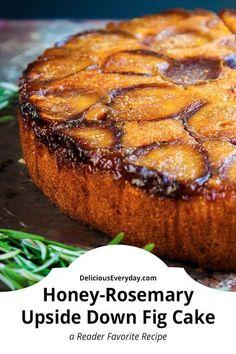 Honey and Rosemary Upside Down Fig Cake Fig Recipes, Dessert Recipes, Healthy Recipes, Dessert Healthy, Crepe Recipes, Dessert Ideas, Desserts, Fig Dessert, Vegetarian Food