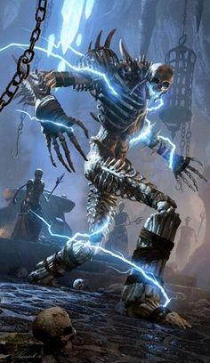 Bone Colossus The Elder Scrolls Legends Dark Fantasy Art, Fantasy Artwork, Fantasy Rpg, Demon Artwork, Monster Art, Fantasy Monster, Fantasy Creatures, Mythical Creatures, Illustration Fantasy