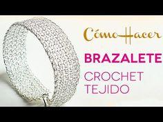 Tutorial Como hacer un Brazalete Crochet Tejido en Punto Peruano - YouTube