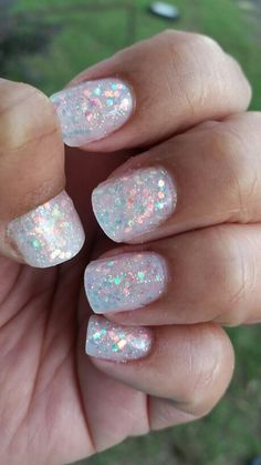 best 25 clear glitter nails ideas on pinterest  clear