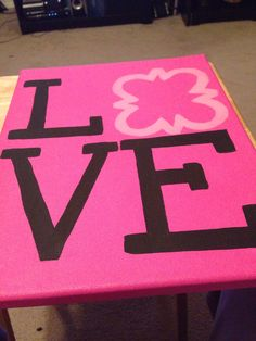 phi mu canvas I made for my dorm