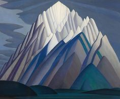 Mountain Forms, an iconic 1926 Rocky Mountain canvas by Group of Seven founder Lawren Harris, will be sold by Heffel Fine Art Auction House on Nov. The work was recently part of The Idea of North, Steve Martin's show celebrating the art of Lawren Harris. Group Of Seven Artists, Group Of Seven Paintings, Canadian Painters, Canadian Artists, Sgraffito, Canvas Painting Landscape, Landscape Art, Landscape Quilts, Tom Thomson Paintings