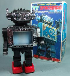 Vintage Horikawa Japan TV Robot