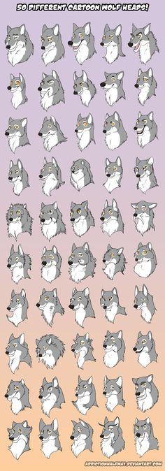 50 Different Cartoon Wolves by AddictionHalfWay.deviantart.com on @deviantART