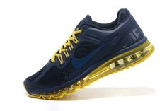 low cost 6ab18 553c6 Wmns Nike Air Max 2013 Deep blue yellow Shoes Nike Air Max Tn, Nike Air