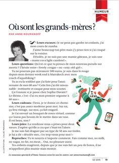 Les grand-mères d'aujourd'hui vues par Anne Roumanoff... #SuperMamie #humour