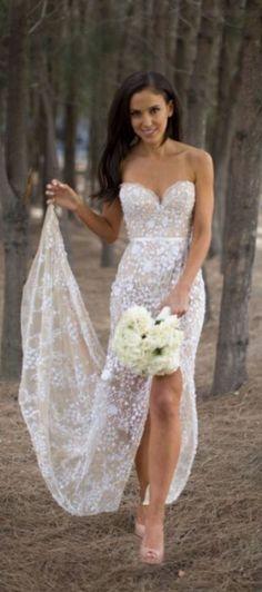 Sexy wedding dresses,lace wedding dresses,wedding dress 2016,see though wedding dresses,wedding dresses with split
