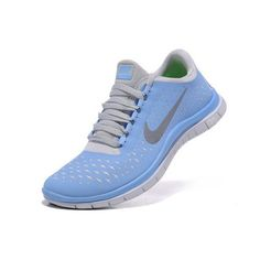 sale retailer 6c1c0 d25c5 Specials Nike Free Run 3.0 V4 Womens Blue Grey Running Shoes Nike, Nike  Shoes For