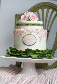 Pretty Little Pink & Green Cake Picture
