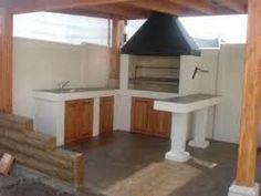 Imagen relacionada Gazebo, Bbq, Loft, Diy Projects, Outdoor Structures, Exterior, Shelves, Creative, Furniture