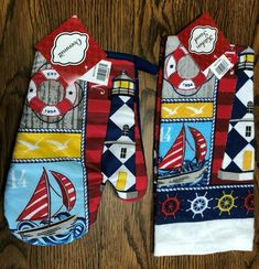 NAUTICAL Potholder /& Ovenmitt Set  HOME IS WHERE YOU DROP YOUR ANCHOR
