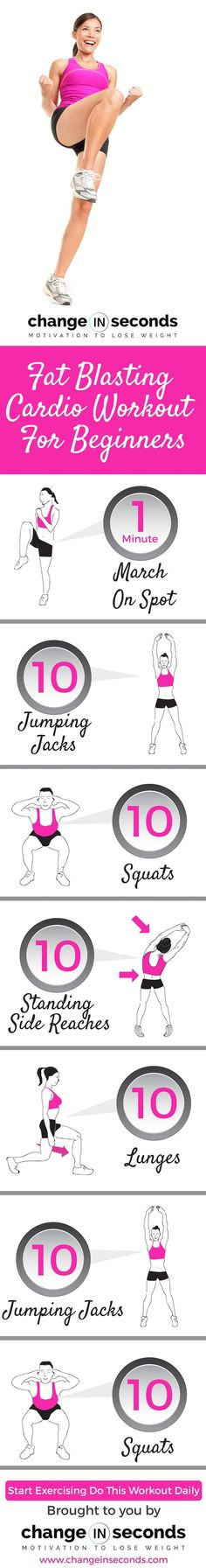"Fat Blasting Cardio Workout For Beginners (Download PDF) <a href=""http://www.changeinseconds.com/fat-blasting-cardio-workout-for-beginners/"" rel=""nofollow"" target=""_blank"">www.changeinsecon...</a> AD <a href=""https://www.instagram.com/fit4less_canada/"" rel=""nofollow"" target=""_blank"">www.instagram.com...</a> <a href=""https://twitter.com/fit4less"" rel=""nofollow"" target=""_blank"">twitter.com/fit4less</a>"