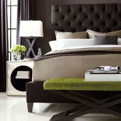 Sort of in love with this headboard.... Bernhardt | Porter Upholstered Bed (King) (336-H66/FR66)