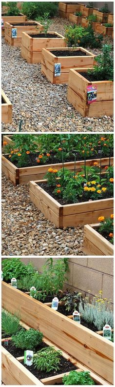Ideas : Mini-raised beds...the one would be great for herbs