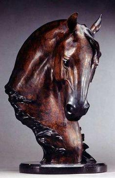 """dondiego Jan Van Ek bronze spanish horse [ """"Equine sculpture - Don Diego by Jan Van Eck"""" ] # # # # # # # # # # Tree Carving, Wood Carving Art, Wood Art, Metal Art, Horse Sculpture, Animal Sculptures, Bronze Sculpture, Horse Head, Horse Art"""