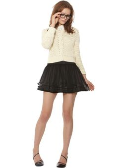 MORIAH LACE TIERED SKIRT | Alice + Olivia |