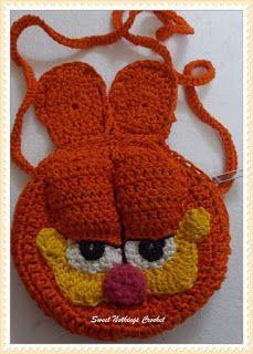 Sweet Nothings Crochet: GARFIELD INSPIRED SLING BAG