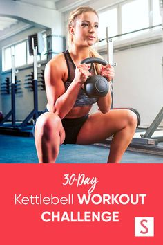 Start a 30 day kettlebell workout challenge right at home for stronger abs. #kettlebellworkout #athomeworkouts 30 Day Workout Plan, Beginner Workout At Home, Back Fat Workout, Workout For Flat Stomach, Fat Burning Workout, Workout For Beginners, Butt Workout, Workout Challenge, Kettlebell Workout Routines