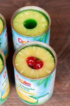 Try something new by making your Jello in a Pineapple Can! Jello Deserts, Jello Dessert Recipes, Salad Recipes, Gelatin Recipes, Pudding Recipes, Dessert Ideas, Pineapple Jello, Canned Pineapple, Watermelon Jello