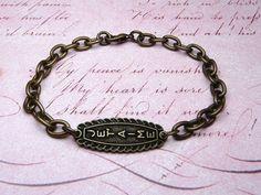 Je t'aime I Love You Vintage Bracelet by missbohemia on Etsy, $12.50