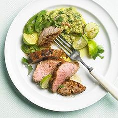 This healthy pork recipe requires just 10 minutes of prep time! Coat the pork tenderloin in zesty marinade the moment you walk in the door after work, allow the flavors to infuse for an hour, then grill for a low effort yet crowd-pleasing healthy pork meal.