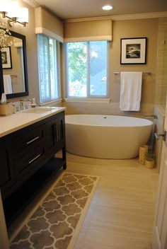 We love the spa-like feel of this Devine Bath remodel #BathroomInspiration
