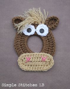 Horse Crochet Camera Lens Buddy by SimpleStitchesLB on Etsy, $10.00