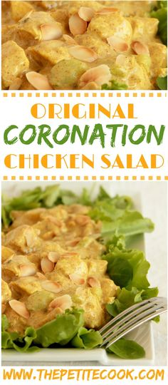 Coronation Chicken Salad- The original british recipe is super easy to make and is great for parties and picnics! thepetitecook.com