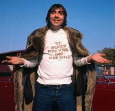 The late Keith Moon, wild-eyed drummer of The Who