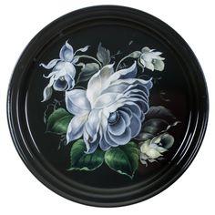Жостовский поднос Tole Decorative Paintings, Tole Painting, Decorative Plates, Russian Art, Flower Crafts, Paper Flowers, Folk Art, Decoupage, Tray