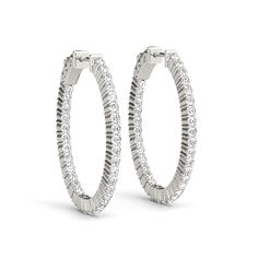You imagine. We design. Check out Linara's Vault Lock Style Hoop Earring Collection.Style# 41020 - Inside Out Diamond Hoop Earrings with Vault Lock.
