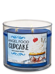 Angel Food Cupcake Candle Angel Food Cupcake Candle by Bath & Body Works Bath Candles, Mini Candles, 3 Wick Candles, Scented Candles, Angel Food Cupcakes, Bath & Body Works, Bath And Bodyworks, Aromatherapy Candles, Makeup Products