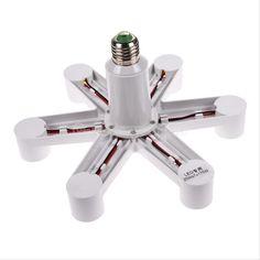 1 to 3 5 7 B22 E27 to E27 Base Socket Splitter Light Lamp Bulb Adapter Holder   eBay