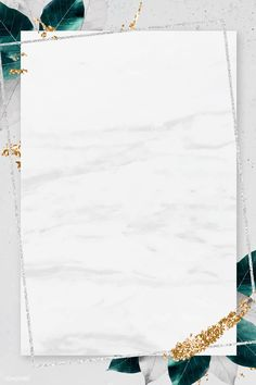 Rectangle silver frame with foliage on marble texture background vector Gold Wallpaper Background, Framed Wallpaper, Frame Background, Graphic Wallpaper, Background Patterns, Textured Background, Wallpaper Backgrounds, Pink Glitter Background, Instagram Frame Template