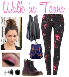 """""""walk in town"""" by born2dr3am on Polyvore"""