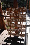 Rustic sign at Hidden Creek   I   Pine Rose Weddings I  outdoor forest wedding venue  I  Lake Arrowhead