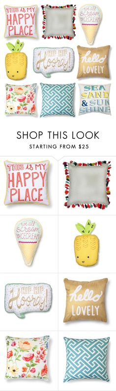 """""""Want all these pillows!!"""" by mariahjimenez0603 ❤ liked on Polyvore featuring interior, interiors, interior design, home, home decor, interior decorating, Pillowfort, Xhilaration and Threshold"""