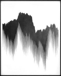 Dripping mountains. Cool.画 山水 水墨